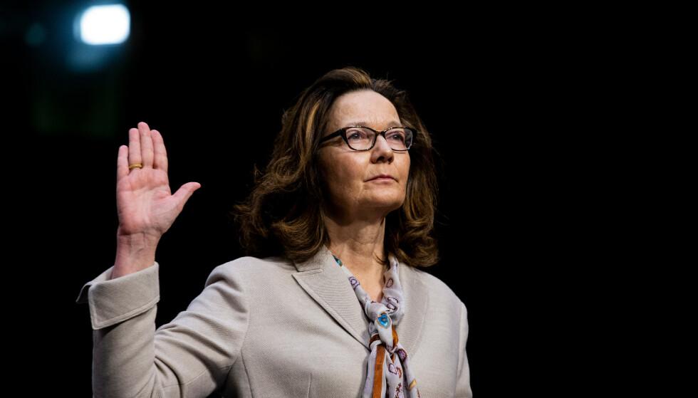 CIA: Direktør Gina Haspel under bekreftelse av senatet i mai 2018. Foto: Rex