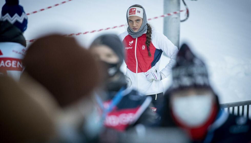 BETENKT: Kristine Stavås Skistad etter lørdagens sprint. Foto: Bjørn Langsem / Dagbladet