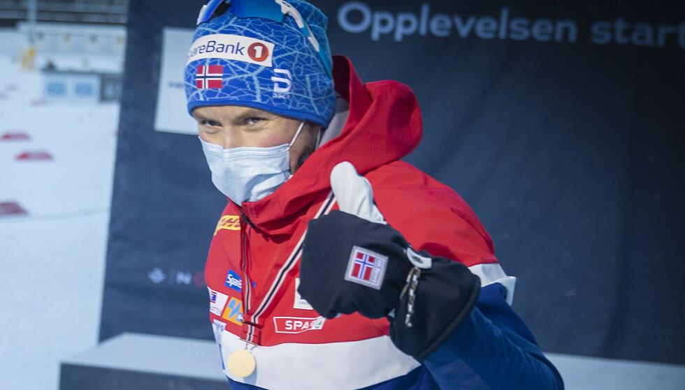 FØLER SEG TRYGG PÅ STAVENE: Men Emil Iversen forteller at de måtte ta grep etter uhellet på Lygna. Foto: Bjørn Langsem