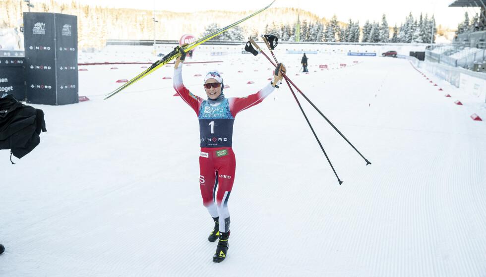 BEST: Therese Johaug vant et suverent NM-gull på 15 km skibytte i Granåsen. Foto: Bjørn Langsem/ Dagbladet
