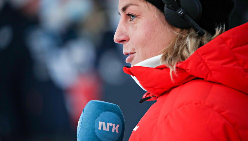 FLINK KOMMENTATOR: Astrid Uhrenholdt Jacobsen imponerer bak mikrofonen. I dag gjorde hun jobben sin og ga svenskene et godt råd foran VM. Foto: Bjørn Langsem / Dagbladet
