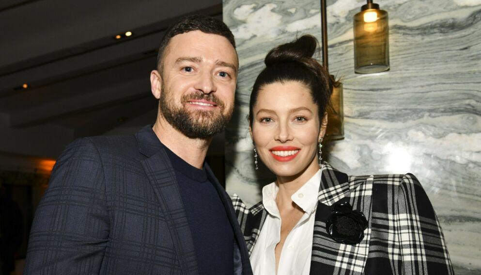 BABYLYKKE: Justin Timberlake og Jessica Biel bekrefter omsider at de har blitt tobarnsforeldre. Foto: Robin Eckenroth / Getty Images/ AFP/ NTB