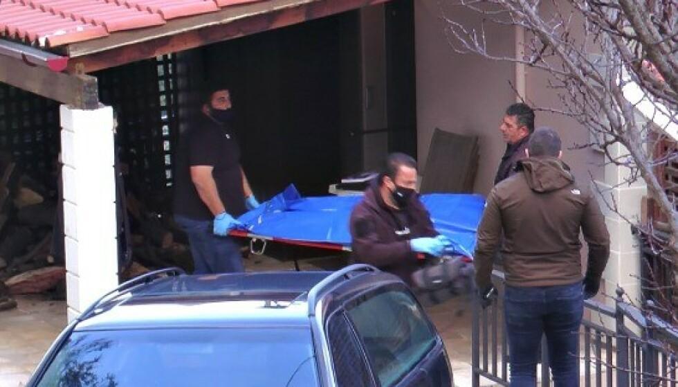 FUNNET SØNDAG: Kvinnen ble funnet med svært mange stikkskader søndag. Foto: FlashNews.gr