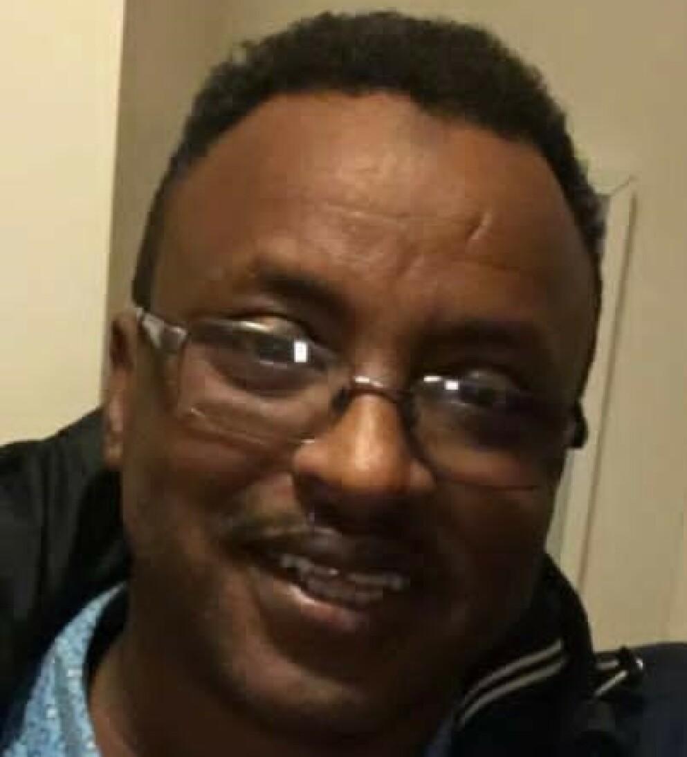 DØDSDØMTE: Saad Jidre (54) er dømt til døden i Somaliland. Den norske statsborgerens advokat, ble overfalt etter at ankesaken startet i dag. Foto: Privat