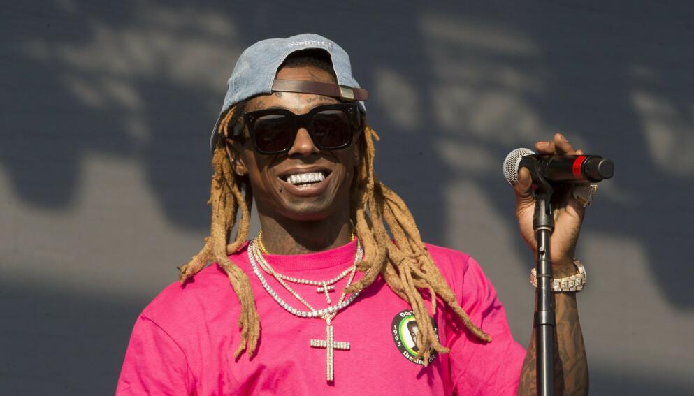 BENÅDET: Lil Wayne er en av flere rappere som står på lista til Donald Trump. Foto: Owen Sweeney / Invision /AP / NTB