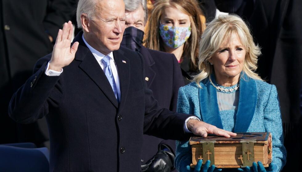 KLAR: Joe Biden er klar til å begynne på en av tidenes vanskeligste presidentperioder. Foto: REUTERS / NTB