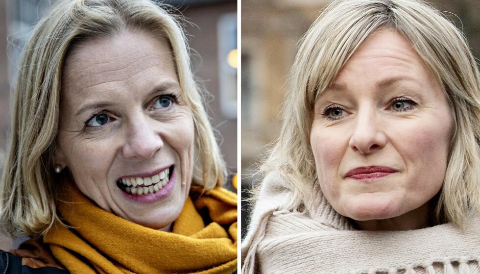 MÅTTE SVARE: Marte Gerhardsen og Inga Marte Thorkildsen beklaget begge timingen for lønnsfesten i Oslo-skolen. Foto: Nina Hansen og Kristin Svorte / Dagbladet
