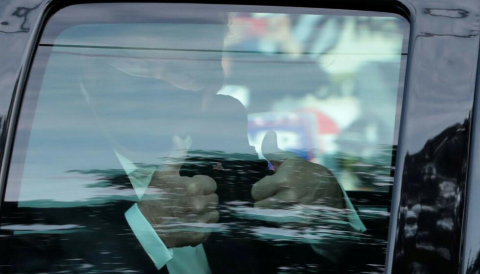FIKK ANTISTOFFCOCKTAIL: Da Donald Trump var coronasyk i oktober i fjor, ble han behandlet med antistoffcocktail. Nå har forskere gjort spennende funn om denne behandlingsformen. Foto: REUTERS/Cheriss May/NTB