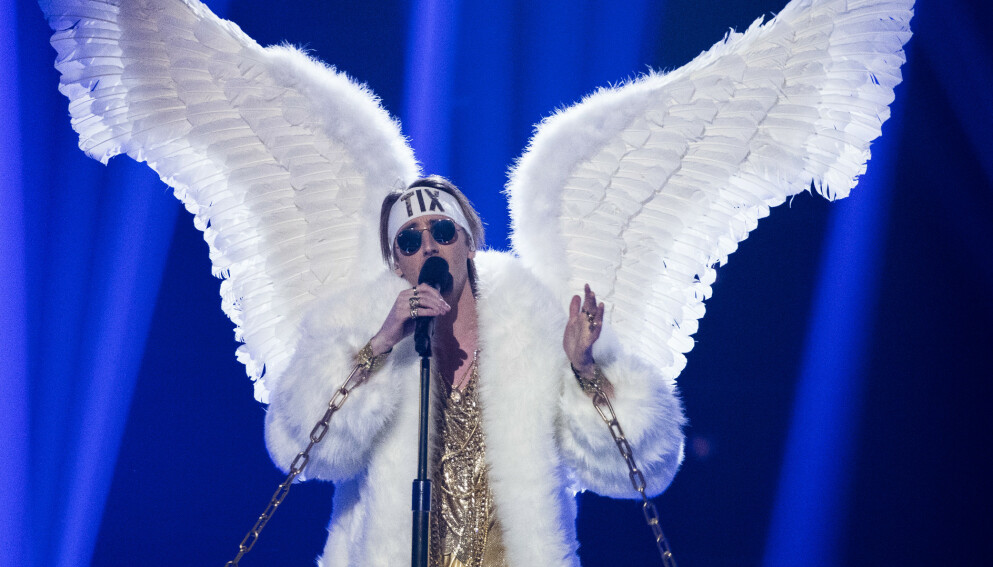FIKK TERNINGKAST 1: TIX skal være med i årets Melodi Grand Prix-finale. Låta hans fikk terningkast 1 av Dagbladet. Foto: NRK.