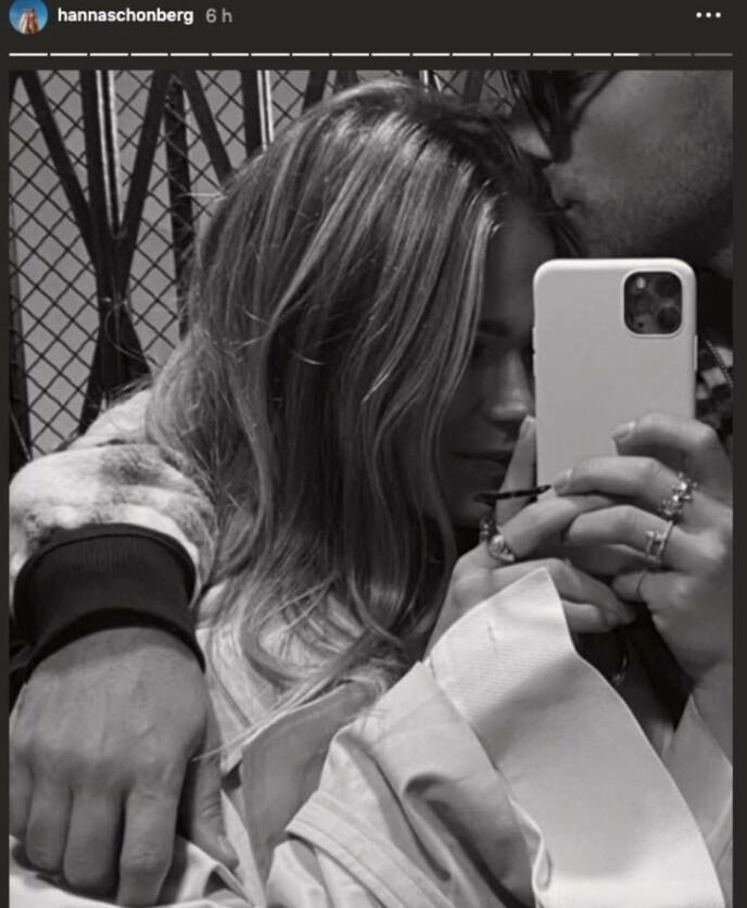 ROMANTIKK: Dette bildet fikk fart på romanseryktene mellom Hanna Schönberg og Eric Saade. Foto: Skjermdump fra Instagram