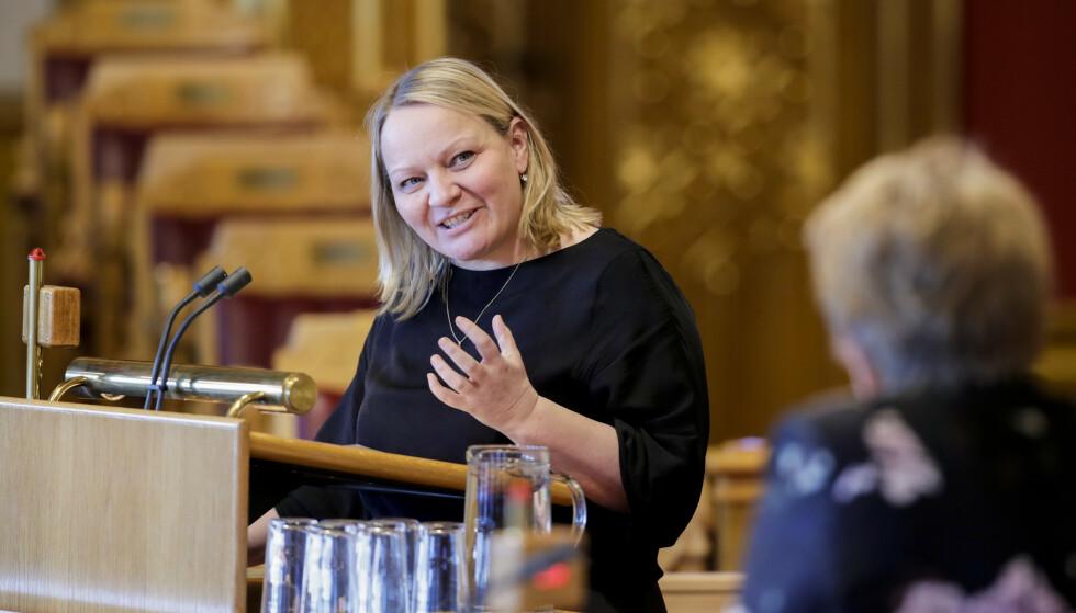 KOPIERER SV: Utdanningspolitisk talsperson i SV Mona Fagerås mener Høyre henter sin skolepolitikk hos venstresiden. Foto: Vidar Ruud / NTB