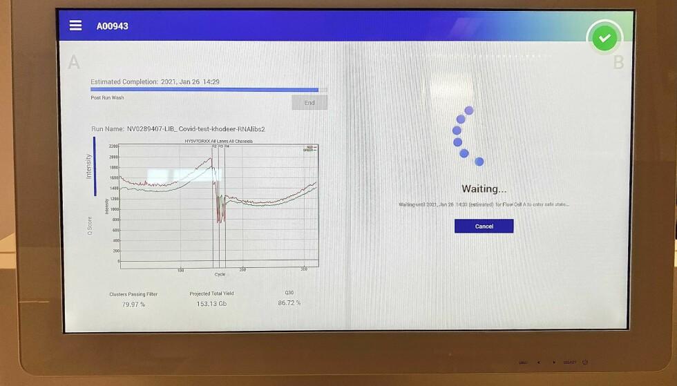 ENDESTASJONEN: Dette er maskinen hvor det endelige resultatet er klart. Foto: Emilie Rydning / Dagbladet