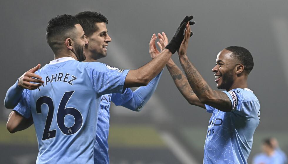 KJØRTE OVER WBA: Manchester City var nådeløse mot Sam Allardyces menn. Foto: Laurence Griffiths/Pool via AP/NTB