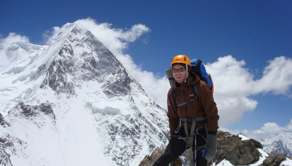 FJELLVANT: Øystein Stangeland ved K2 i 2008. Foto: Lars Nessa