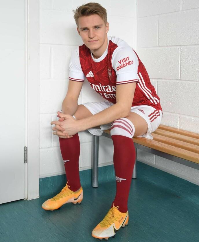 NY DRAKT: Martin Ødegaard. Foto: Arsenal