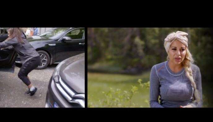 SKADET SEG: Mira Craig tråkket over og forlot den lille sidegården i sist episode. Foto: TV2