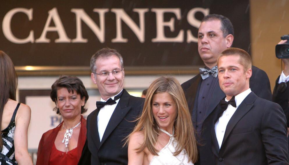 UTSATT: Den berømte filmfestivalen utsettes. Her er eksparet Jennifer Aniston og Brad Pitt på festivalen i 2004. Foto: P. Lapoirie / REX / NTB