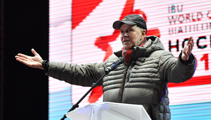 UNDER GRANSKNING: IBU-president Anders Besseberg under VM i Hochfilzen i 2017. Foto: NTB