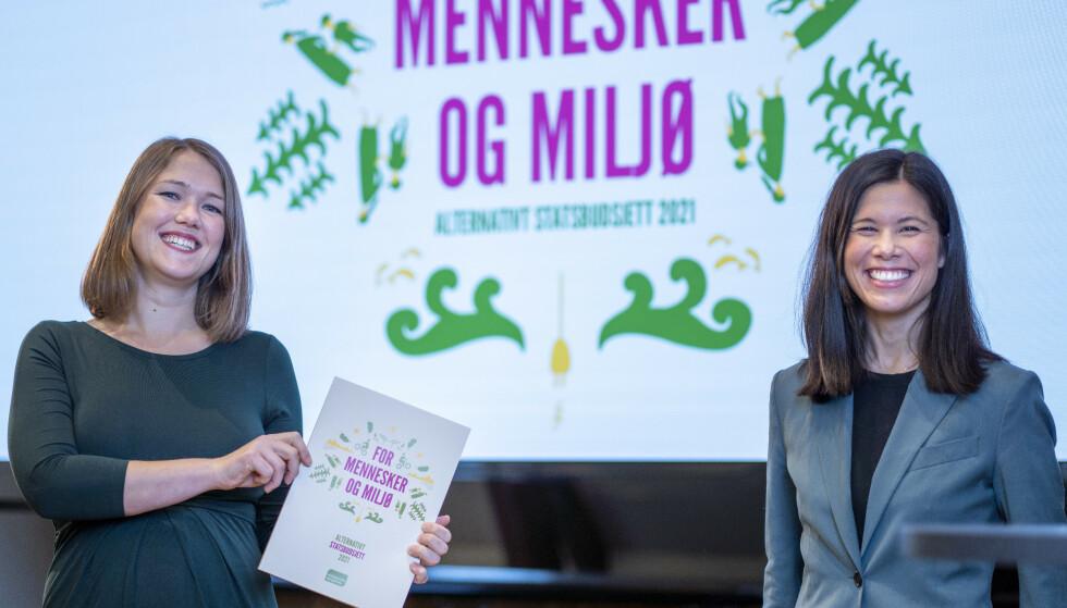 UTE: Partileder Une Bastholm faller ut av Stortinget og heller ikke Lan Marie Berg kommer inn fra Oslo på Dagbladets januarmåling. Foto: Heiko Junge / NTB