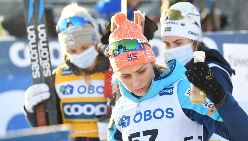 NEDERLAG: Therese Johaug tapte for amerikanske Jessica Diggins. Det er viktig for spenning i sporten. FOTO: Fredrik Sandberg/TT NYHETSBYRÅN / NTB