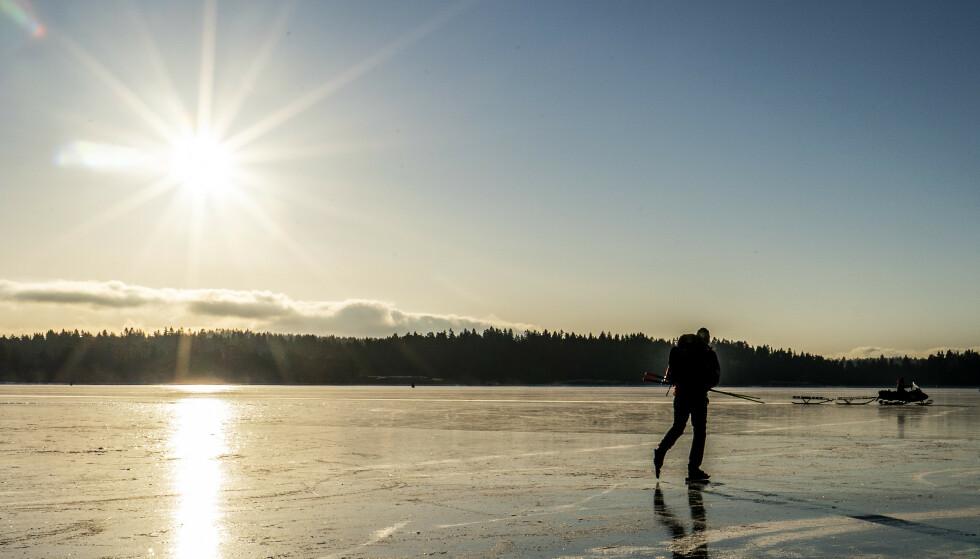 FINVÆR: Februar byr på en forlengelse av finvær og isende kulde. Foto: Hans Arne Vedlog / Dagbladet