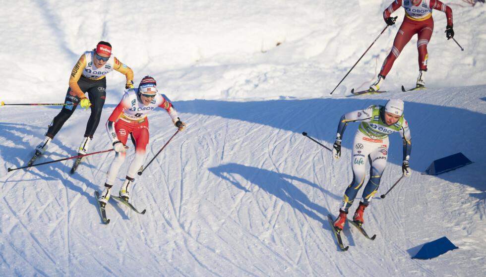 NY UTFORDRING: Linn Svahn gir Therese Johaug en utfordring hun ikke har fått på lang tid. Foto: Fredrik Sandberg/TT News Agency via AP)