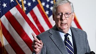 LEDER: Mich McConnell er Republikanernes leder i Senatet. Foto: Jonathan Ernst/ REUTERS.