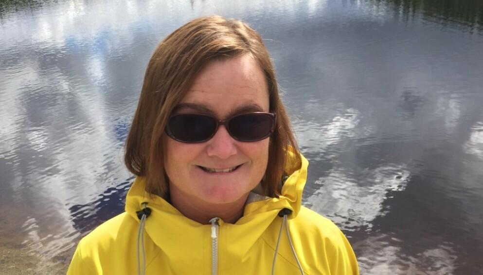 ØYESYKDOM: Tonje Kristina Furset (48) hadde ingen symptomer før øyelegen sendte henne i all hast til sykehuset for operasjon. Foto: Privat