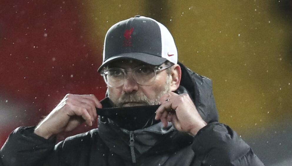 SORG: Jürgen Klopp er i sorg etter å ha mistet moren sin. Foto: Clive Brunskill/Pool via AP)