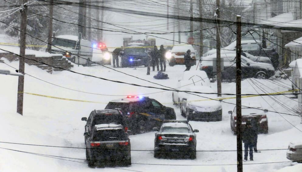SNØ: De involverte skal ha kranglet om hvor de skulle plassere snøen de fjernet fra oppkjørselen. Foto: Dave Scherbenco / The Citizens' Voice / AP / NTB