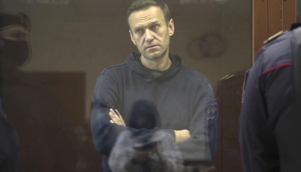 I RETTEN - IGJEN: For andre gang på ei uke er Aleksej Navalnyj tilbake i retten. Denne gang tiltalt for å ha ærekrenket en veteran fra andre verdenskrig. Foto: NTB