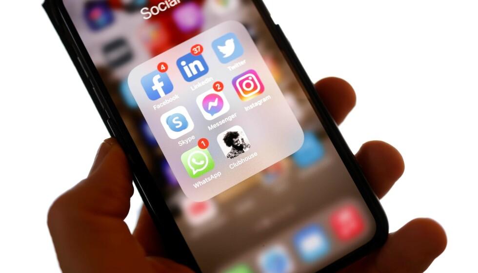 CLUBHOUSE: Den nye sosiale medier-appen er på «alles» lepper. Foto: Odd Andersen / AFP / NTB