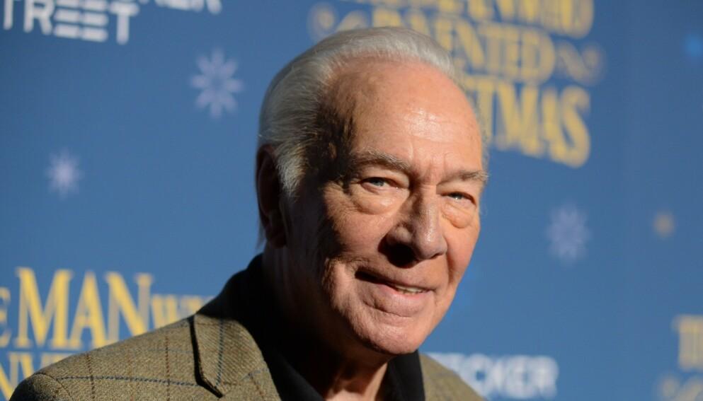 DØD: Skuespiller Christopher Plummer er død, 91 år gammel. Foto: Erik Pendzich / REX / NTB
