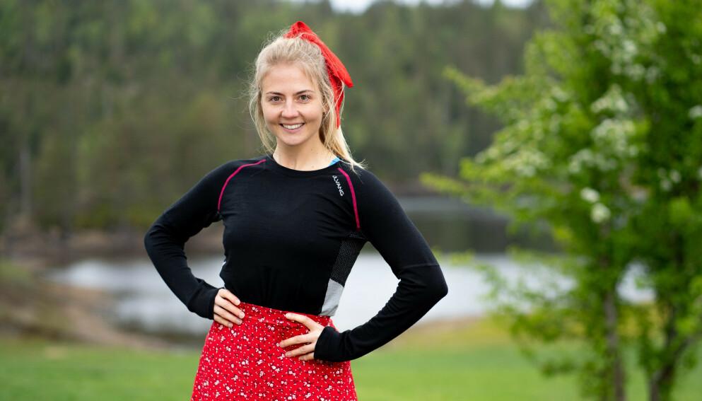 TAKTISK: Kine Olsen hadde på forhånd nøye planlagt hvordan hun skulle fremtre på tv-skjermen. Foto: Espen Solli / TV 2