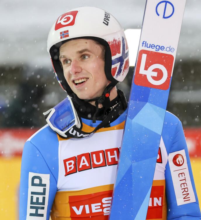 I EGEN KLASSE: Halvor Egner Granerud var suveren i Klingenthal. Nå har han dratt videre til Zakopane. Foto: NTB