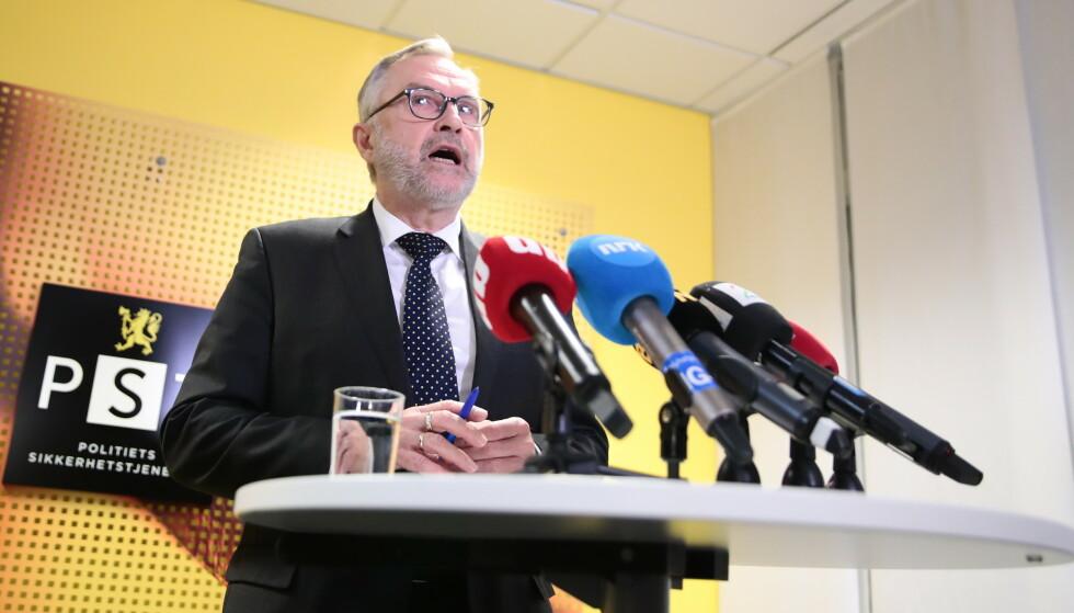 TRUSSELVURDERING: Hans Sverre Sjøvold er sjef i Politiets sikkerhetstjeneste (PST). Foto: NTB