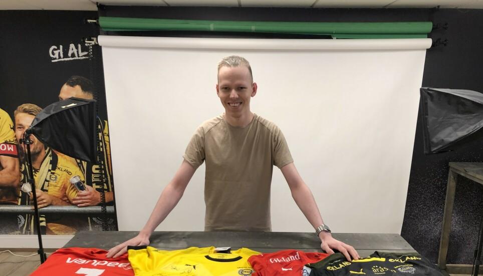 SMILET TILBAKET: Ole-Martin Andersen mistet store verdier da raset gikk. Nå får han hjelp. Foto: Lillestrøm Sportsklubb