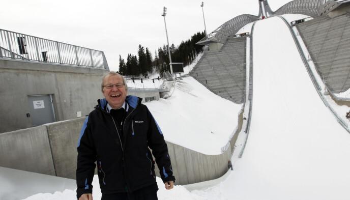 JUBILEUM: Arne Scheie før ski-VM i Holmenkollen i 2011. Denne måneden er dette nøyaktig ti år siden. Foto: NTB