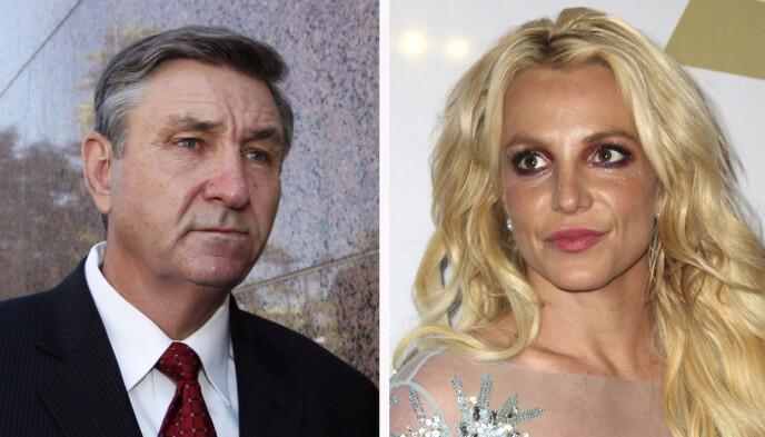 MØTES I RETTEN: Britney Spears og faren Jamie Spears er fortsatt i en bitter strid rundt farens vergemål. Foto: AP/ NTB