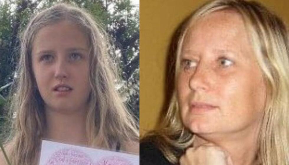 OMKOM: Victoria Emilie Næristorp-Sørengen (13) og Ann-Mari Olsen-Næristorp (50) ble tatt av leirskredet på Ask 30. desember. Foto: Privat, med tillatelse fra familien