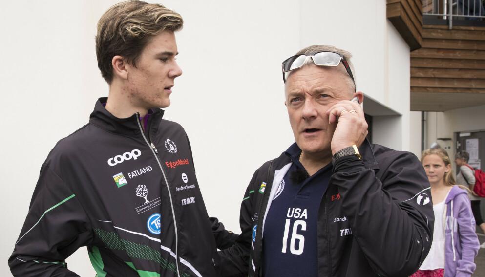 SJOKKERT: Jakob og Gjert Ingebrigtsen. Foto: Vidar Ruud / NTB
