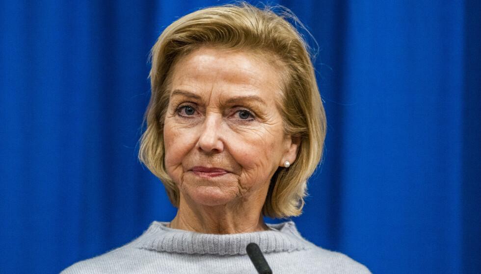 BREV TIL ERNA SOLBERG: Idrettspresident Berit Kjøll er tydelig i brevet til stasministeren. Foto: Håkon Mosvold Larsen / NTB