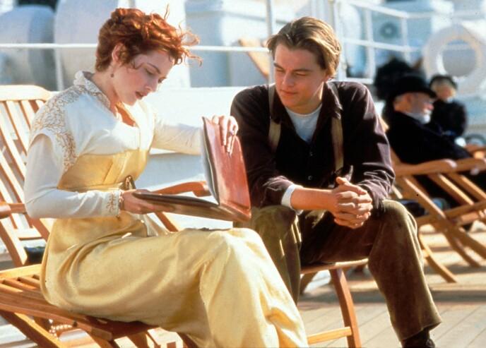 STJERNE OVER NATTA: Til tross for filmsuksessen var ikke alt en dans på roser for Kate Winslet. Her med Leonardo DiCaprio i «Titanic». Foto: Moviestore / Rex / NTB