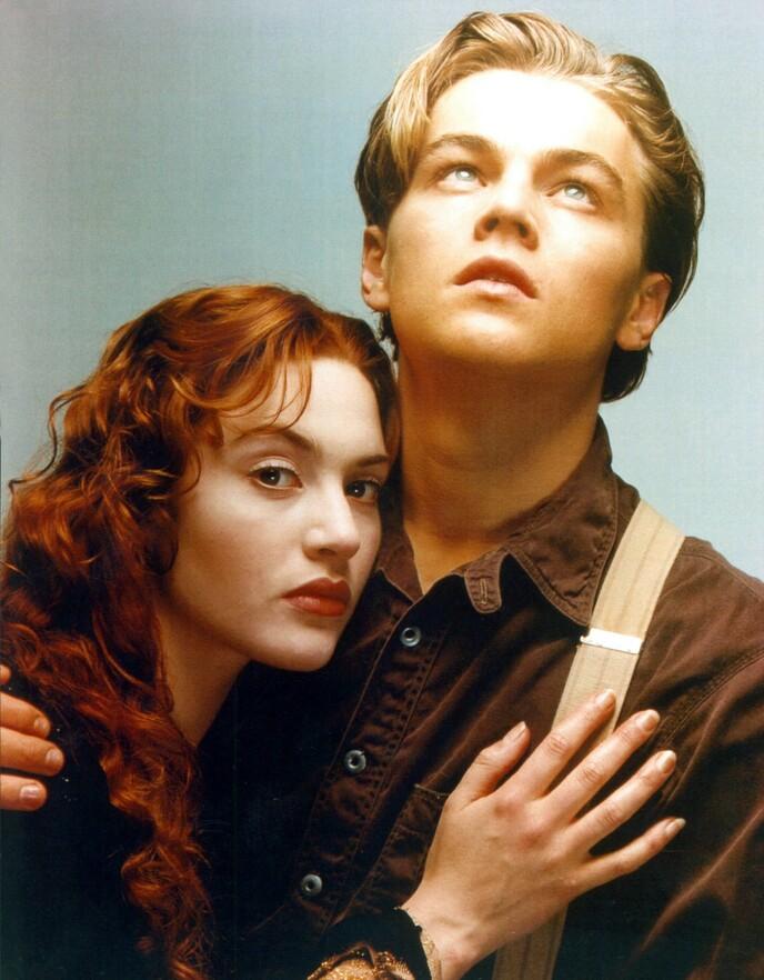 PASSET IKKE INN: Kate Winslet innrømmer at hun følte at hun ikke passet inn i Hollywood. Her med Leonardo DiCaprio i 1997. Foto: Shutterstock Editorial / NTB