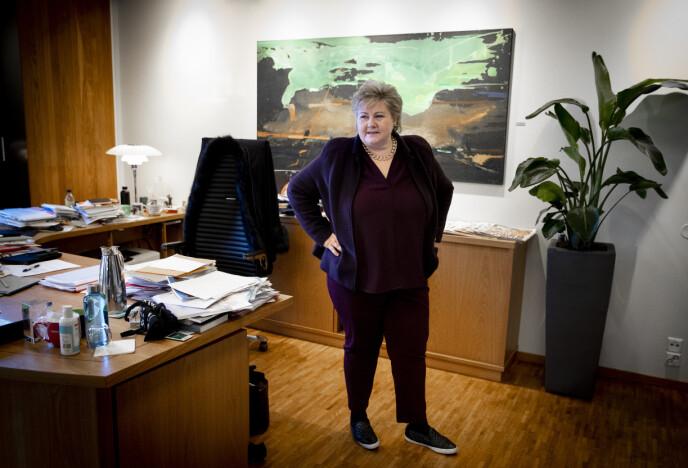 ERKJENNER: - Jeg er jo voksen nok til å vite om mine sterke sider og mine svakheter, sier Erna Solberg. Foto: Bjørn Langsem / Dagbladet