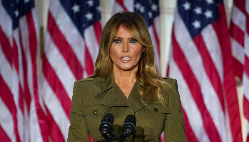 HARDT UT: USAs tidligere førstedame Melania Trump mener det spres falskt sladder om henne. Foto: Reuters/NTB.