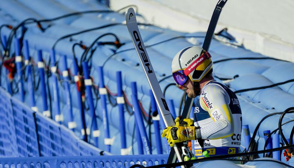 SKADET: Kjetil Jansrud trekker seg fra VM i alpint i Cortina. Foto: Torstein Bøe / NTB