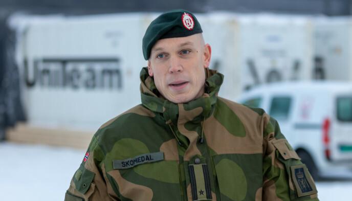 PRESSEOFFISER: Major Eirik Skomedal er presseoffiser i Hæren. Foto: Øyvind Baardsen / Forsvaret