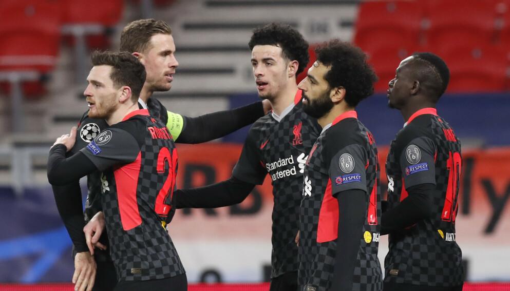 GODT UTGANGSPUNKT: Liverpool leverte en sterk kamp mot RB Leipzig. Foto: Laszlo Balogh/AP/NTB