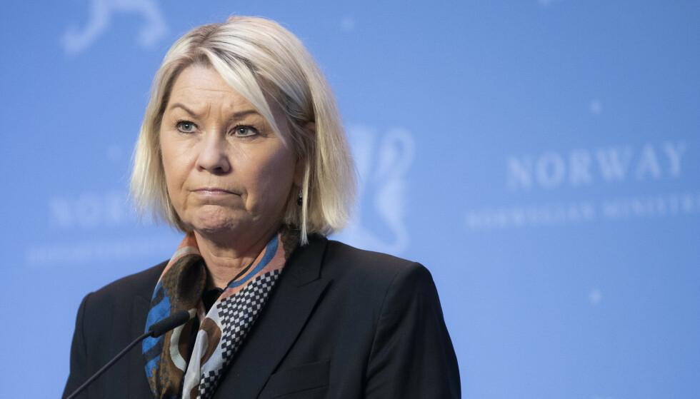Justis- og beredskapsminister Monica Mæland (H). Foto: Berit Roald / NTB
